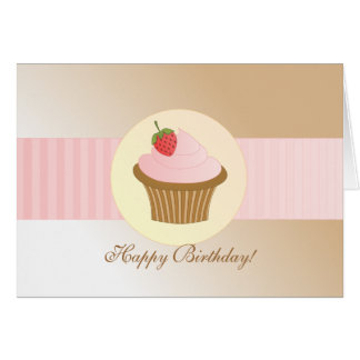Stylish Birthday Cupcake Greeting Cards