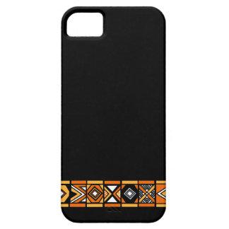 Stylish Black African art pattern iphone 5 case