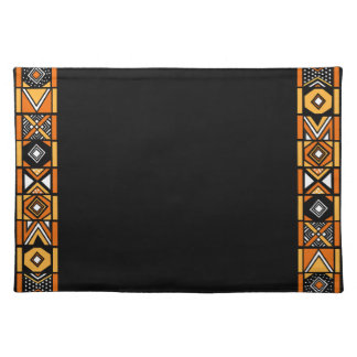 Stylish Black African Pattern Placemat