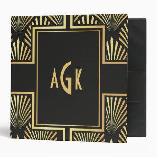 Stylish Black and Gold Art Deco Photo Album/Binder 3 Ring Binder