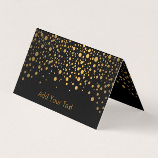 Stylish Black and Gold Confetti Business Card