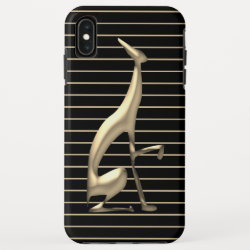 Case-Mate Barely There Apple iPhone XS Max Case with Greyhound Phone Cases design