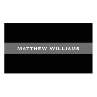 Stylish black and gray line personal profile or Double-Sided standard business cards (Pack of 100)