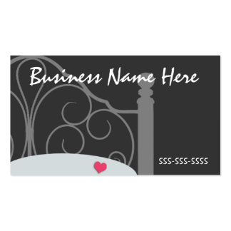 Stylish Black and Gray Ornate Bed Business Card