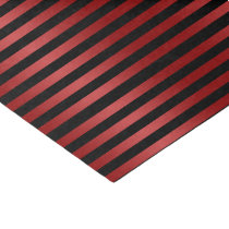 Stylish Black and Red Stripes Pattern Tissue Paper