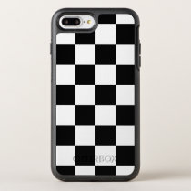 Stylish Black and White Checkered Pattern OtterBox Symmetry iPhone 8 Plus/7 Plus Case