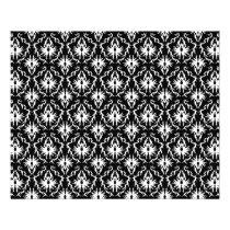 Stylish Black and White Damask Pattern. Flyer