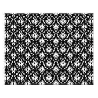 Stylish Black and White Damask Pattern. Flyer