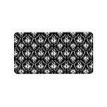 Stylish Black and White Damask Pattern. Personalized Address Labels