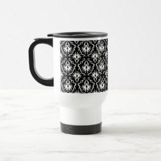 Stylish Black and White Damask Pattern. Mugs