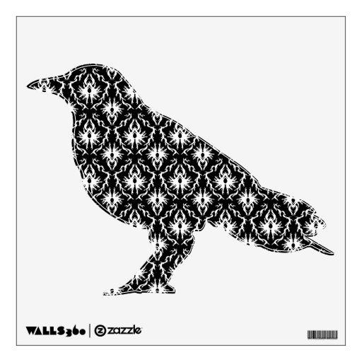 Stylish Black and White Damask Pattern. Wall Sticker