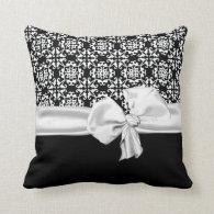 Stylish Black and White Decorator Pillow
