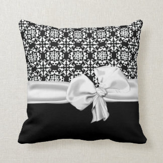 Stylish Black and White Decorator Pillow