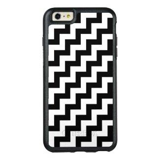 Stylish Black and White Diagonal Zigzags
