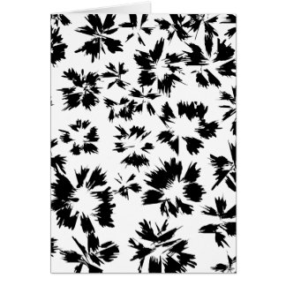 Stylish Black and White Floral Pattern. Greeting Card