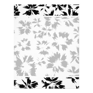 """Stylish Black and White Floral Pattern. 8.5"""" X 11"""" Flyer"""