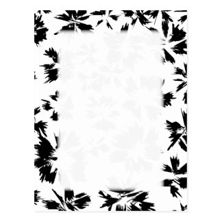 Stylish Black and White Floral Pattern. Postcard