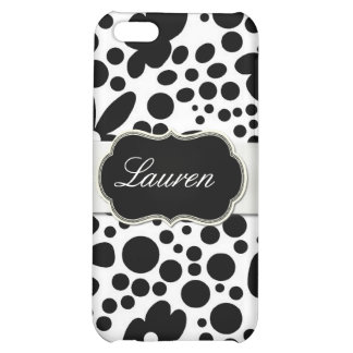 Stylish Black and White Modern Floral iPhone 5C Cover