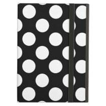 Stylish Black and White Polka Dots Pattern Case For iPad Air