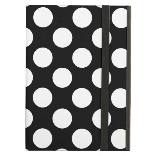 Stylish Black and White Polka Dots Pattern iPad Case