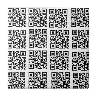 Stylish Black and White QR Code Trivet