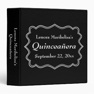 Stylish Black and White Quinceanera Binder