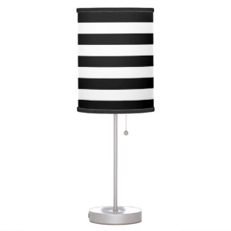 Stylish Black and White Stripes Table Lamp
