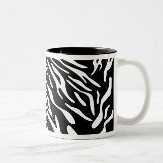 Stylish Black and White Zebra Stripe Mug