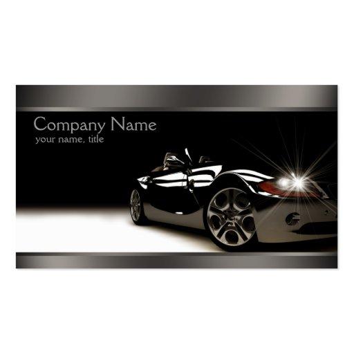 Stylish Black Automotive Business Card