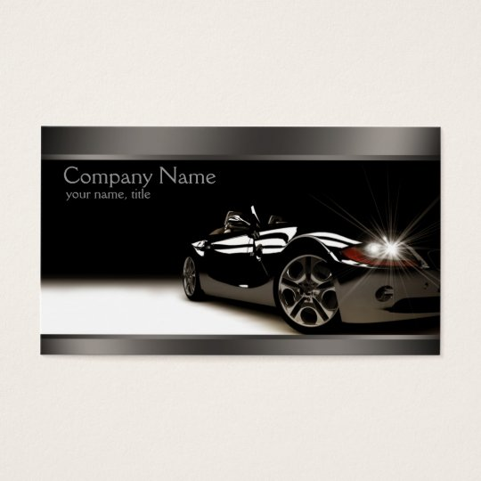 Stylish Black Automotive Business Card Zazzle