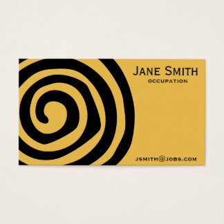 Stylish black Aztec spiral professional Business Card