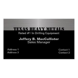 Stylish Black & Brushed Aluminum Look Business Card