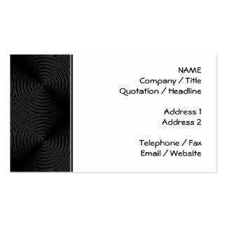Stylish, black circles design. Custom Double-Sided Standard Business Cards (Pack Of 100)