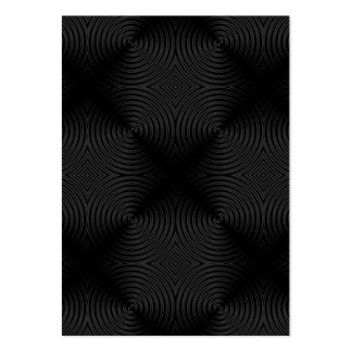 Stylish, black circles design. Custom Large Business Cards (Pack Of 100)
