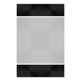 "Stylish, black circles design. Custom 5.5"" X 8.5"" Flyer"