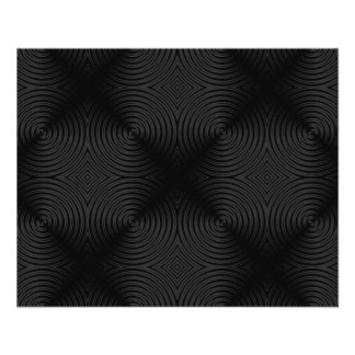 "Stylish, black circles design. Custom 4.5"" X 5.6"" Flyer"