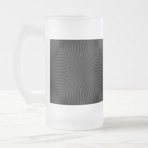 Stylish, black circles design. Custom 16 Oz Frosted Glass Beer Mug
