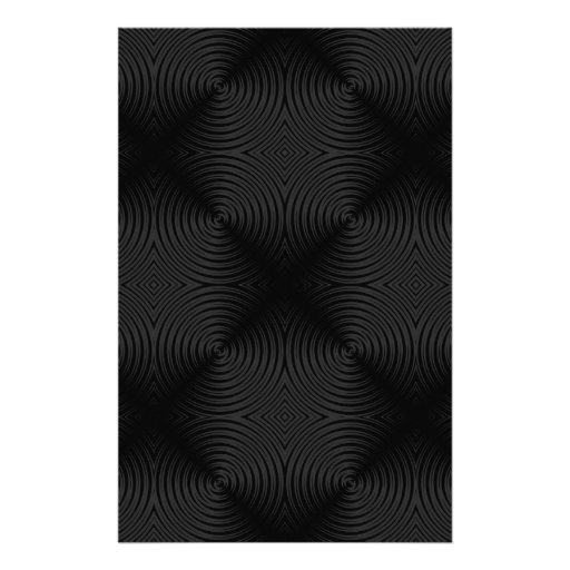 Stylish, black circles design. stationery paper