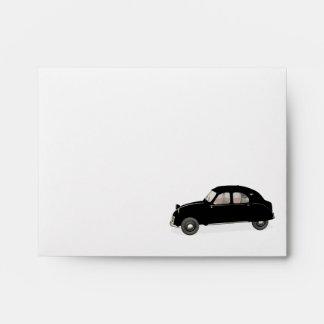Stylish Black Citroen 2CV Envelope