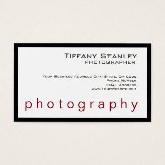 Stylish Black Frame White Trendy Photographer Business Card