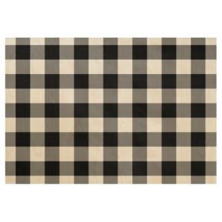 Stylish Black Gingham Pattern Wood Poster