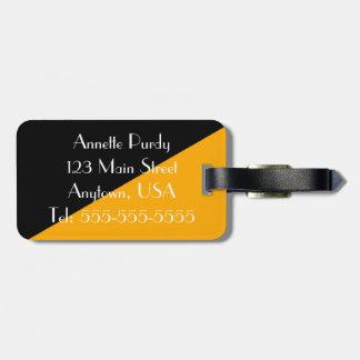Stylish Black & Gold Designer Luggage Tag