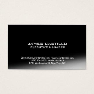 Stylish Black Grey Modern Professional Business Card