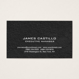 Stylish Black Grey Wall Modern Professional Business Card