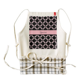 Stylish Black & Lilac Glitter Squares Zazzle HEART Apron