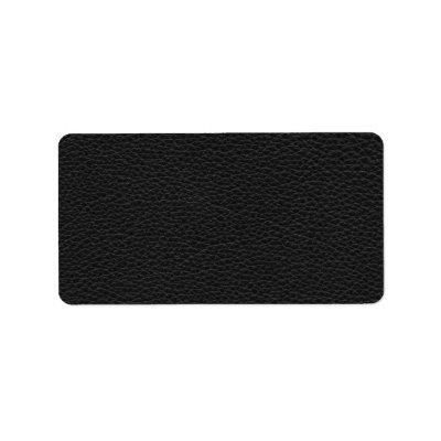 Stylish Black Printed Pattern. Address Label