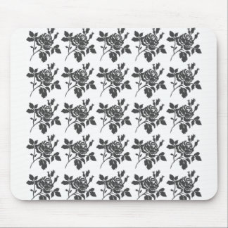 Stylish-Black-Rose-Runner-Floral Mouse Pad