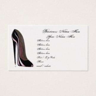 Stylish Black Shoe Business Card