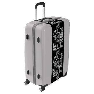 Stylish Black Silver Luggage Suitcase
