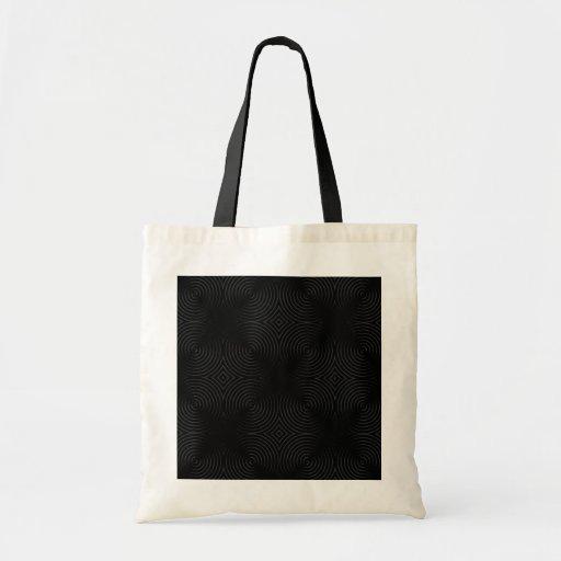 Stylish, black spirals design. budget tote bag